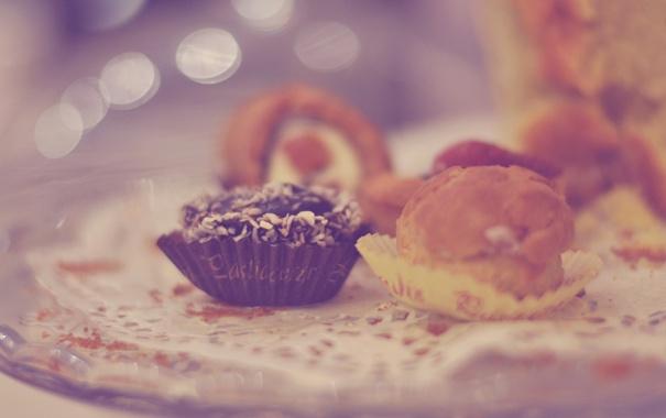 Фото обои макро, конфеты, сладкое