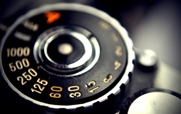 Фото обои макро, цифры, фотоапарат, деталь