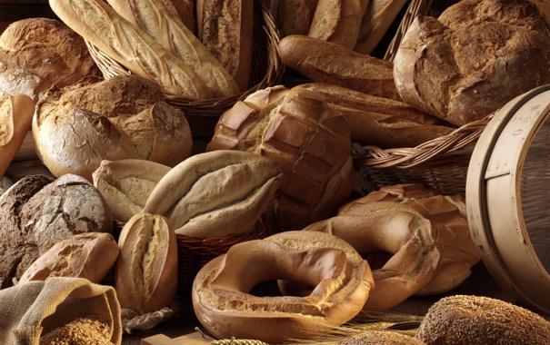 Фото обои хлеб, булки, выпечка, батоны