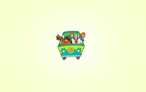 Фото обои Velma, Fred, машина, цветок, Scooby-Doo, Скуби-Ду, Daphne