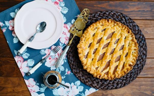 Фото обои тарелка, пирог, выпечка