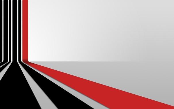 Фото обои линии, перспектива, красная, черные