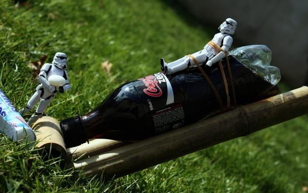 Фото обои grass, star war, coke