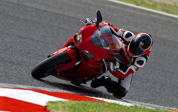 Фото обои Гонка, Байк, Мотоцикл, Мото, Трасса, Ducati, EVO
