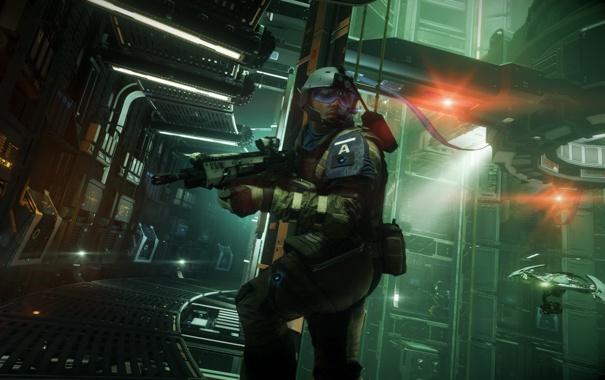 Фото обои оружие, станция, Killzone: Shadow Fall, соладт