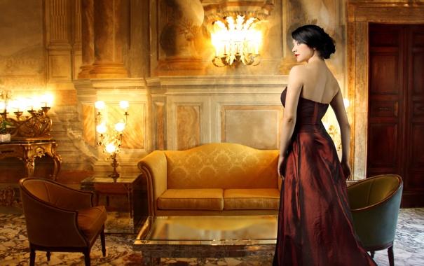 Фото обои vintage, woman, hotel