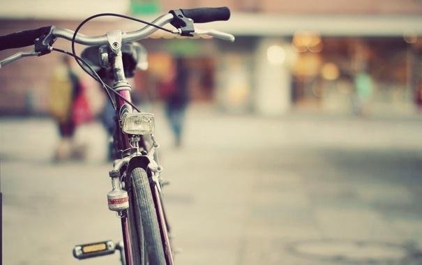 Фото обои велосипед, город, улица, vintage, images, classic bicycle