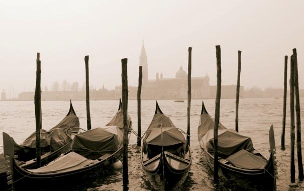 Фото обои Italy, Венеция, канал, гондола, город, city, Италия