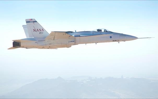 Фото обои NASA, air, F/A-18, test