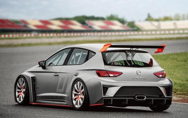 Фото обои спорт, автомобиль, сеат, задок, Leon, SEAT, Cup Racer