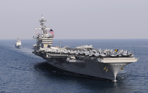 Фото обои море, авианосец, USS, типа «Нимиц», Carl Vinson, (CVN-70)