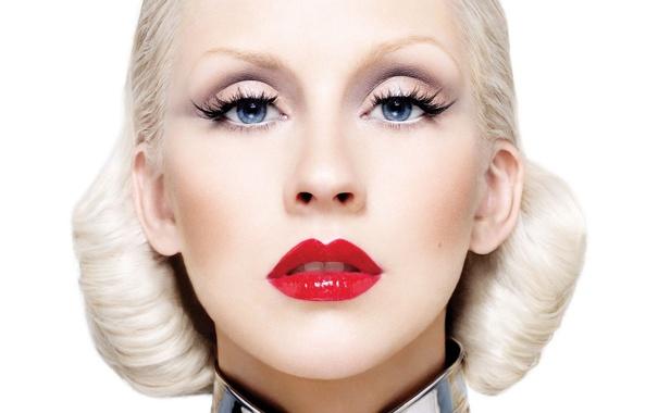 Фото обои девушка, лицо, блондинка, певица, Christina Aguilera, кристина агилера, знаменитость