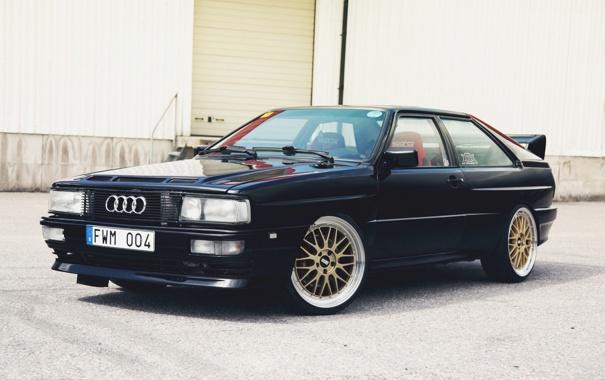 Фото обои Audi, Ауди, Машина, Тюнинг, Черная, Black, Quattro