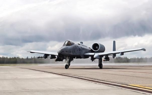 Фото обои Самолет, США, Авиация, ВВС, A-10, Thunderbolt, Одноместный