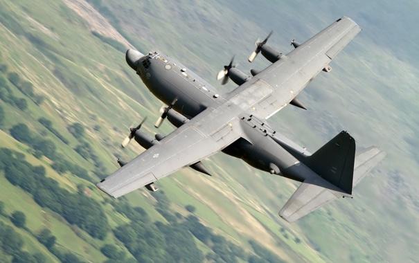 Фото обои полёт, самолёт, военно-транспортный, C-130M