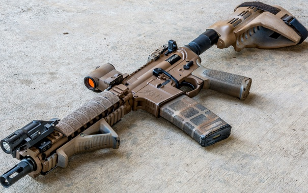 Фото обои оружие, автомат, Daniel Defense, MK18