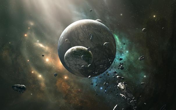 Фото обои камни, планеты, метеоры, Spectrum V