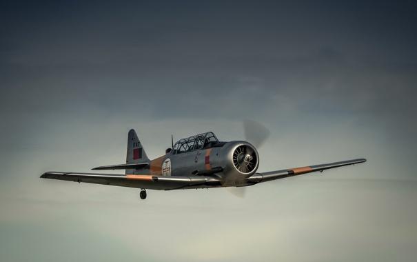 Фото обои небо, полет, самолёт, лёгкий, учебный, AT-6 Harvard