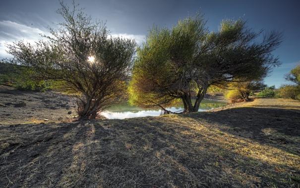 Фото обои пейзаж, природа, озеро
