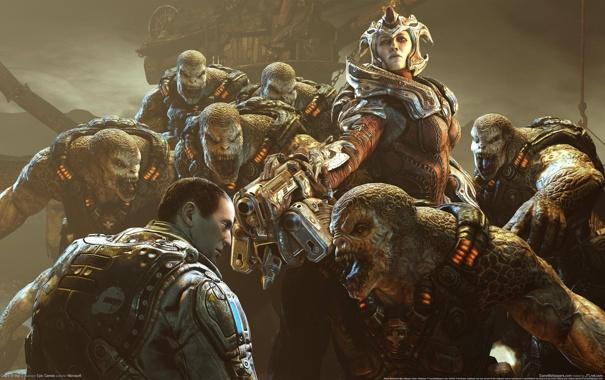 Фото обои Gears of War, враги, монстры