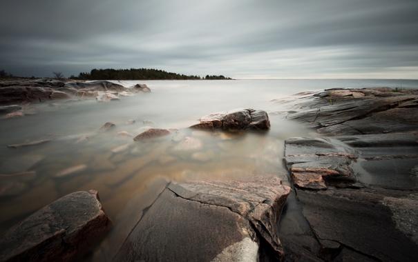 Фото обои море, пейзаж, природа, камни
