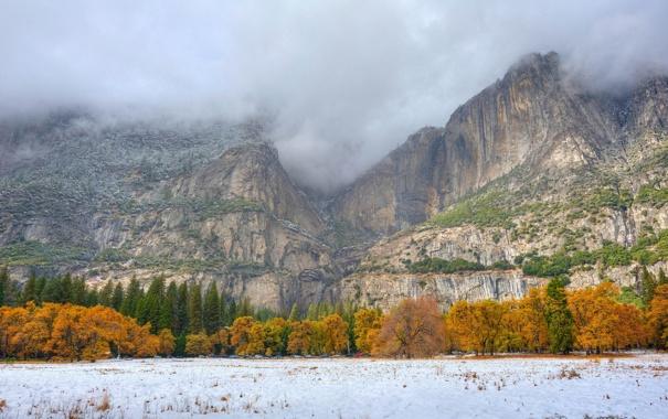 Фото обои горы, осень, пейзаж