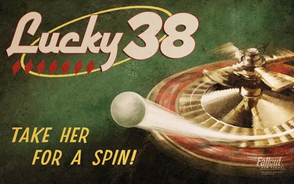Фото обои шарик, арт, Fallout, казино, New Vegas, рулетка, Lucky 38
