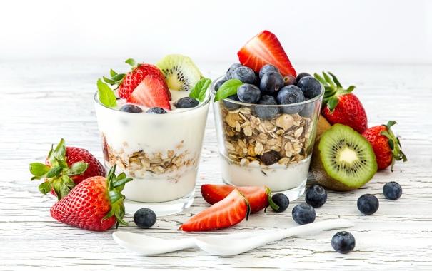 Фото обои ягоды, киви, черника, клубника, fresh, десерт, berries