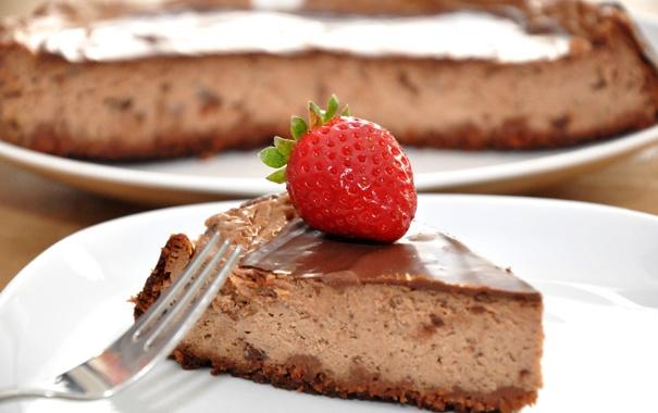 Фото обои клубника, ягода, пирог, сладости, торт, десерт, сладкое