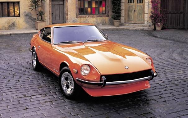 Фото обои Оранжевый, Ниссан, Desktop, Japan, Orange, Nissan, Car