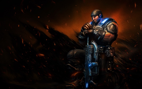 Фото обои Gears of War, Marcus Fenix, Epic Games