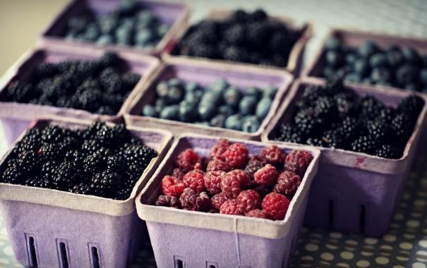 Фото обои еда, макро, ягоды