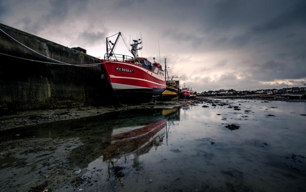 Фото обои море, вода, корабль, порт, Британия