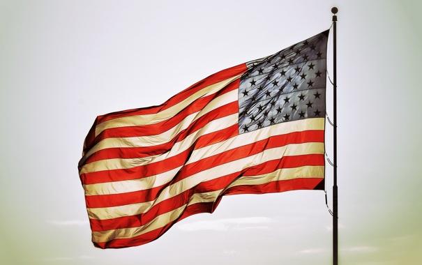 Фото обои star, america, flags