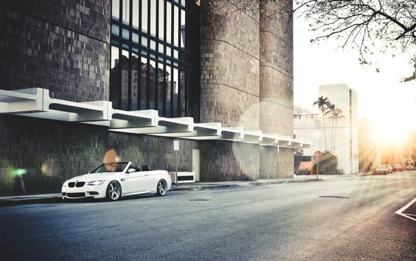 Фото обои город, BMW, кабриолет