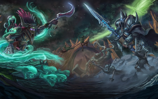 Фото обои arthas, Witch Doctor, diablo, warcraft, Nazeebo, Heretic Witch Doctor, Heroes of the Storm