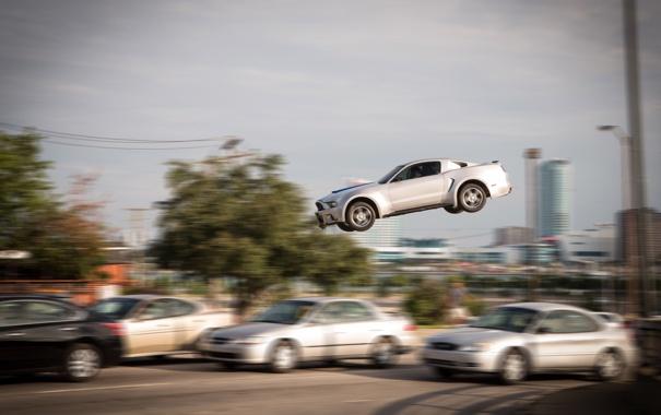 Фото обои Need for Speed: Жажда скорости, размытие, авто, полет, Need for Speed, кадр