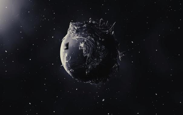 Фото обои звезды, космос, фантастика, пространство, планета, обои. картинка, арт