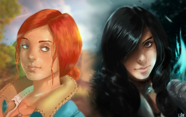 Фото обои игра, арт, Ведьмак, Witcher, Трисс, Йеннифер, ludocreator