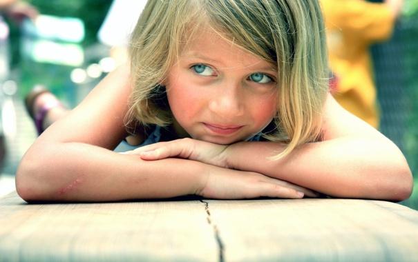 Фото обои глаза, фото, ребенок, голубые, девочка, царапина