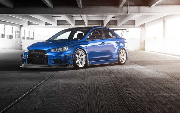Фото обои Mitsubishi, Lancer, Evolution, Driven Media, Johan Lee