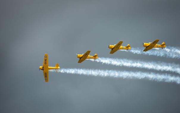 Фото обои авиация, самолёт, пилотаж