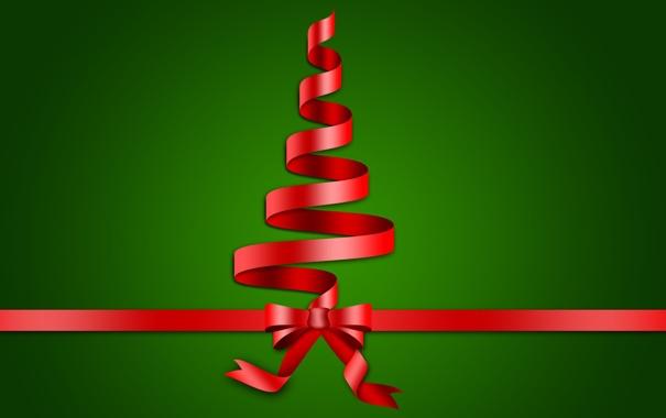 Фото обои красный, зеленый, фон, праздник, обои, елка, новый год