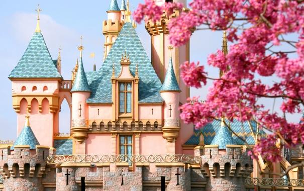 Фото обои замок, сказка, Диснейленд