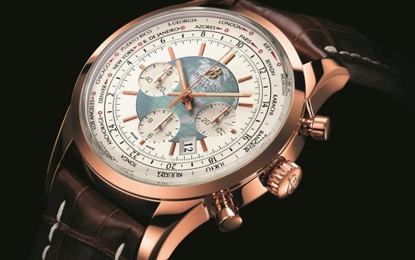 Фото обои Часы, gold, Breitling, Unitime