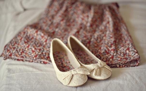Фото обои одежда, обувь, юбка, туфли, балетки