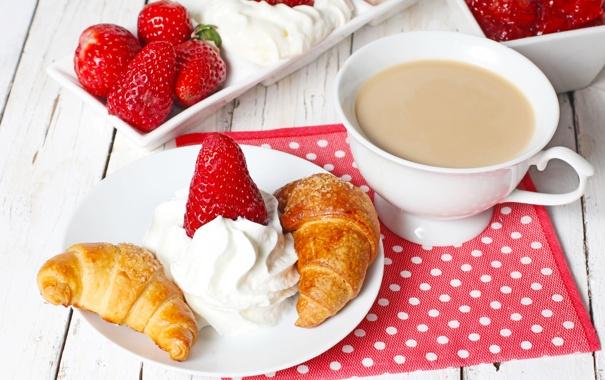 Фото обои еда, клубника, ягода, напиток, крем, strawberry, какао