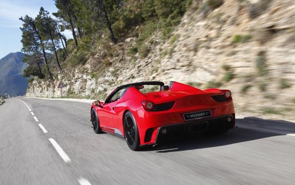 Фото обои car, Ferrari, red, 458, road, tuning, speed