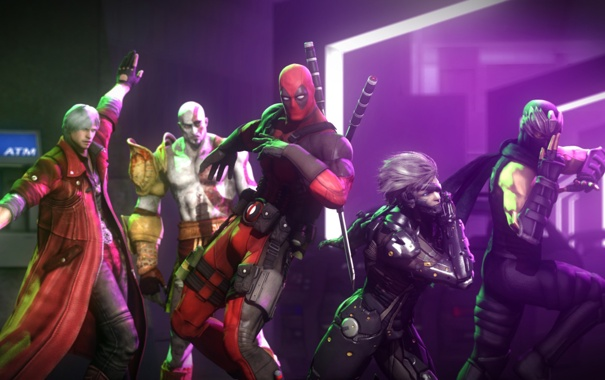 Фото обои god of war, kratos, deadpool, raiden, devil may cry, dante, Metal Gear Rising: Revengeance