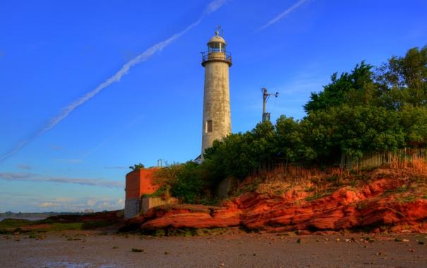 Фото обои побережье, маяк, Англия, Hale